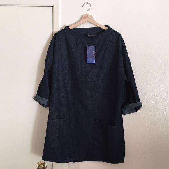 8fd30519 Zara Dresses | Nwt Oversized Denim Smock Dress | Poshmark